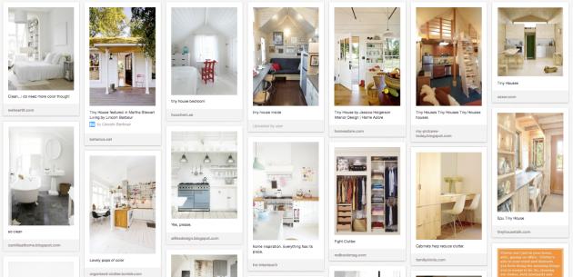 minimalist Pinterest board