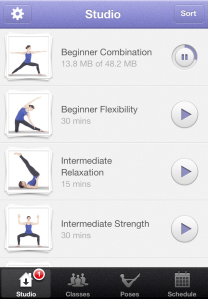 There is an awesome selection of classes available for free after you download the app