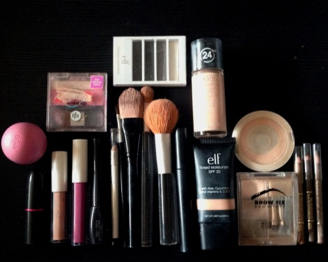 "What remains of my makeup ""collection"""