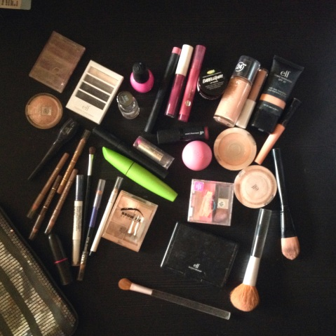 My makeup collection before downsizing