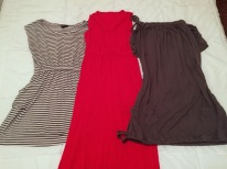 Three dresses - the one on the right is actually my Versalette, so I could wear it multiple ways!