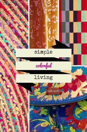 Simple Colorful Living - Minimalism can be colorful!